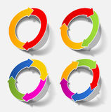 Tableau circulaire de cycle de cercle de flèche Image libre de droits