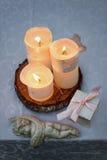 Tableau décoré pour épouser ou dîner romantique Images libres de droits