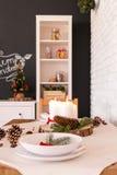 Tableau décoré pour Noël Photos libres de droits