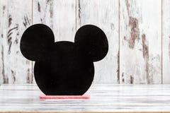 Tableau décoratif pour écrire avec la forme de souris Photos libres de droits