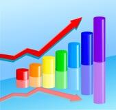 Tableau d'affaires Image stock