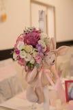Tableau d'affaires avec des fleurs Photo stock