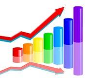 Tableau d'affaires d'arc-en-ciel Photographie stock libre de droits