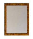 Tableau d'affichage de tissu dans le cadre en bois brillant Image stock