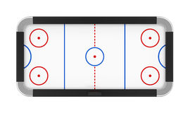 Tableau d'hockey d'air d'isolement Image stock