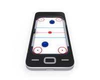 Tableau d'hockey d'air dans le téléphone portable Photos stock