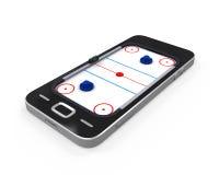 Tableau d'hockey d'air dans le téléphone portable Photographie stock libre de droits