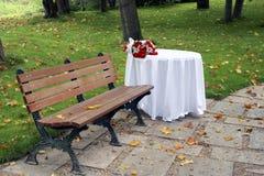 Tableau dans le jardin Image libre de droits