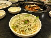 Tableau de barbecue coréen photos stock
