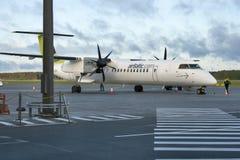 Tableau de bord 8 Q400 NextGen de bombardier d'AirBaltic Photographie stock