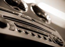 tableau de bord automatique sonore photographie stock