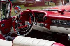 Tableau de bord classique de voiture Photographie stock libre de droits