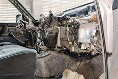 Tableau de bord démantelé de voiture Photos libres de droits