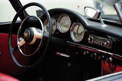 Tableau de bord d'Alfa Romeo d'ancien Photographie stock