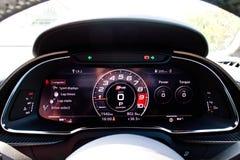 Tableau de bord 2016 d'Audi R8 Photographie stock