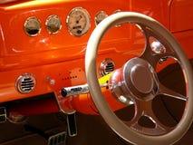 Tableau de bord d'orange Photographie stock libre de droits