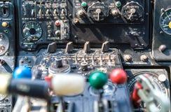 tableau de bord dans l'hélicoptère Photos libres de droits