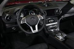 Tableau de bord de Mercedes-Benz SLK200 Images libres de droits