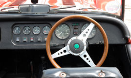 Tableau de bord de véhicule de cru Photo stock