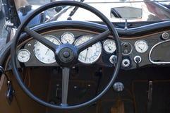 Tableau de bord de véhicule de cru Image stock