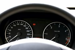Tableau de bord de voiture image libre de droits