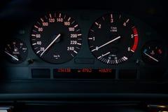 Tableau de bord moderne de véhicule Image stock