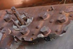 Tableau de bord rouillé de train de vapeur Photographie stock libre de droits