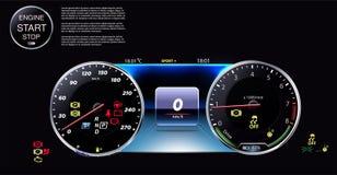 Tableau de bord de véhicule nouvelle technologie eps10 illustration de vecteur