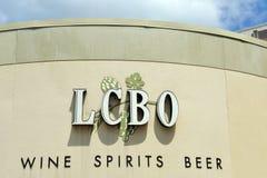 Tableau de commande de boisson alcoolisée de signe d'Ontario Photos libres de droits