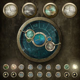 Tableau de commande de Steampunk v2 Images stock