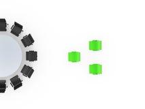 Tableau de conférence et de position concept  Image stock
