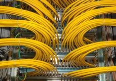 Tableau de connexions de réseau à un centre de traitement des données Image libre de droits