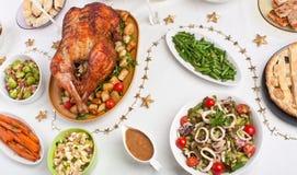 Tableau de dîner de Noël Photographie stock libre de droits