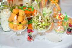 Tableau de dessert de banquet Image libre de droits