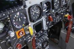 Tableau de la commande F-16 Images stock