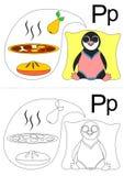 Tableau de la lettre P Photos stock