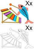 Tableau de la lettre X Photos stock