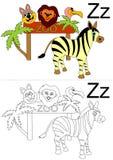 Tableau de la lettre Z Images libres de droits