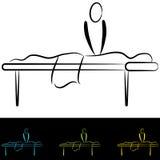 Tableau de massage illustration de vecteur