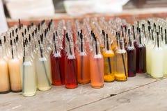 Tableau de soda gastronome dans la variété de saveurs photographie stock