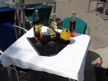 Tableau des boissons de cocktail Photo libre de droits