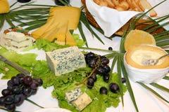 Tableau des fromages assortis Photographie stock libre de droits