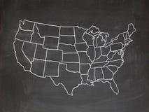 Tableau des USA Photos libres de droits