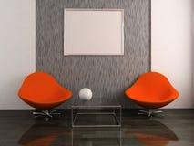 tableau deux de fauteuils Photographie stock