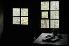 Tableau dinant rustique d'hublot Images libres de droits