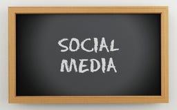 tableau du noir 3d Concept social de medias illustration de vecteur