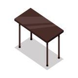 Tableau en bois isométrique dans l'appartement Photographie stock libre de droits