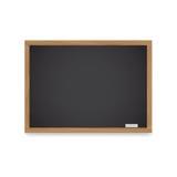 Tableau en bois pour des leçons et des disques avec la craie Photo stock