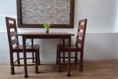 Tableau et chaise Images libres de droits