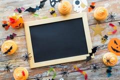 Tableau et décorations vides de partie de Halloween Photo libre de droits